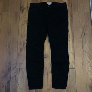 Current Elliott Black Leopard Jeans Skinny